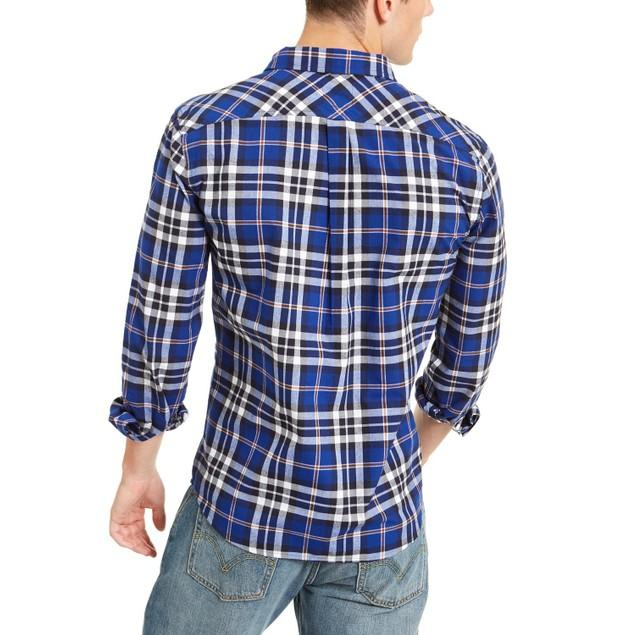 Levi's Men's Plaid Button-Down Shirt Blue Size Small