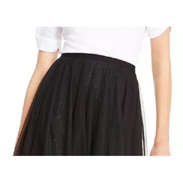 INC International Concepts Women's Sparkle Tulle Skirt Black Size X-Large