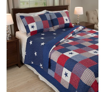 Lavish Home Caroline 3 Piece Quilt Set Was: $299.99 Now: $35.99.