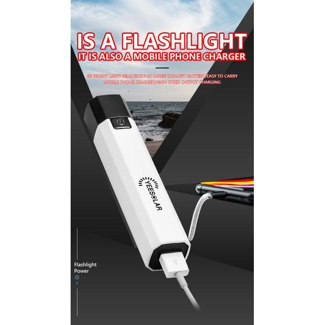 Strong Light Walking Portable Household Lighting Power Bank Mini Flashlight USB Outdoor