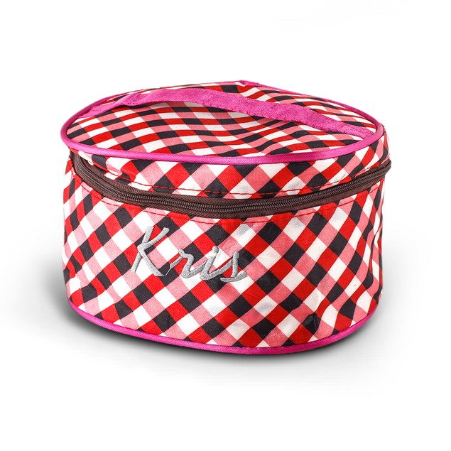 Personalized Cosmetic Makeup Bag w/ Handle