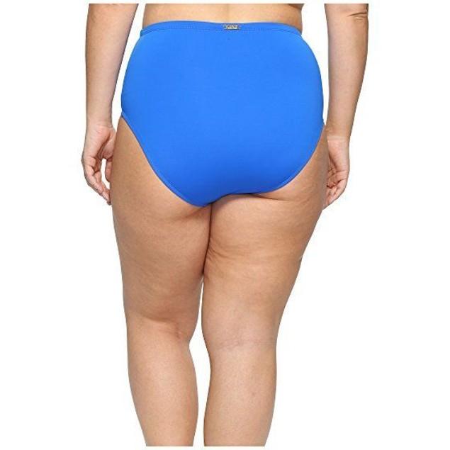 LAUREN Ralph Lauren Women's Plus Size Beach Club Hipster Bottom Blue S