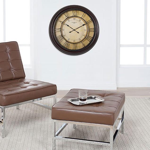 "Studio Design Home 29"" Traditional Chateau Wall Clock - Dark Brown"