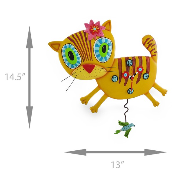 Allen Designs `Kimi Kitty` Pendulum Wall Clock Wall Clocks