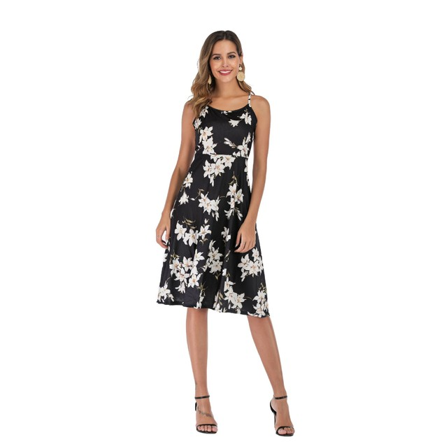 Ladies' Dress With Sling Print
