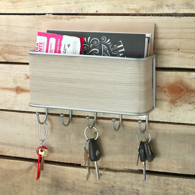 Wall Mounted Letter and Key Hanger   MandW