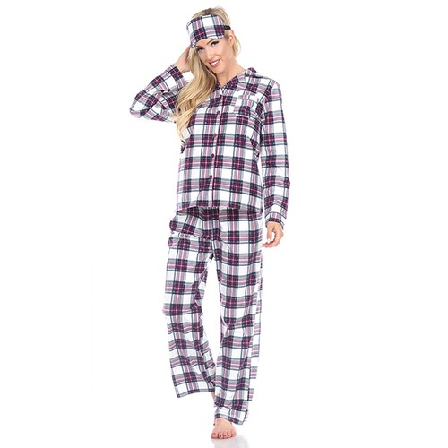 Three-Piece Pajama Set - S-4X