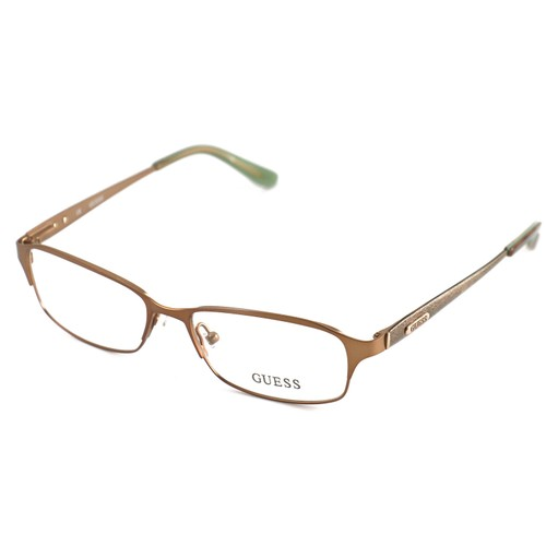 Guess Women  GU2424 BRN Brown 51 15 135 Full Rim Rectangle