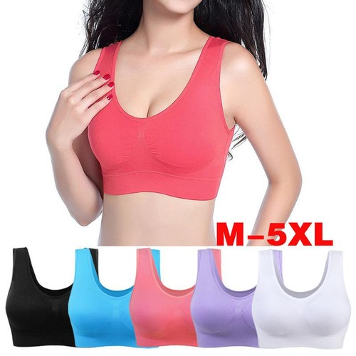 Women Sports Bra Yoga Tank Tops With Removable Pads