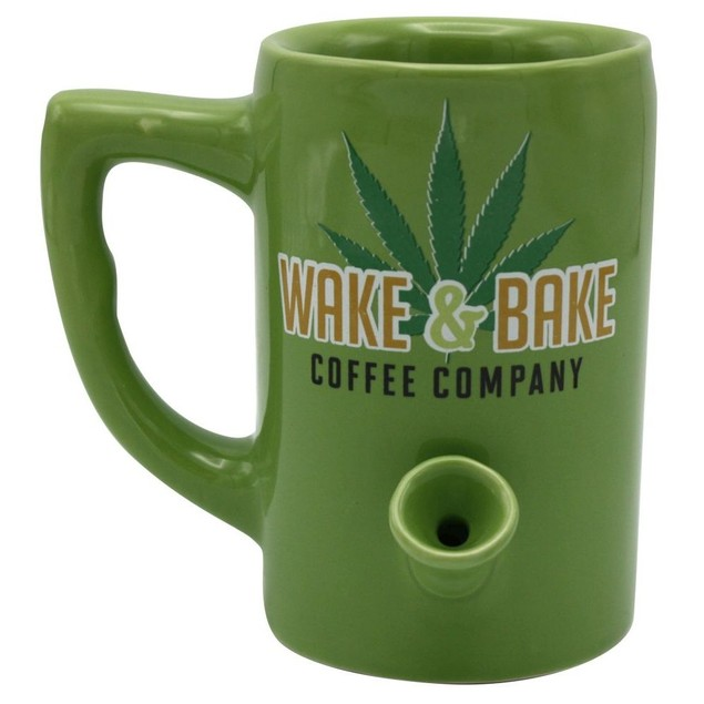 Wake and Bake Mug, Mature Humor by Island Dogs