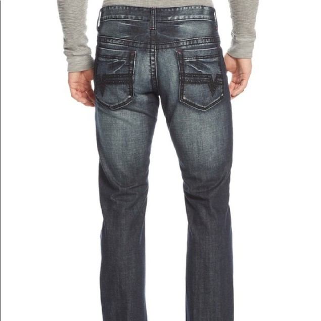 INC International Concepts Men's Modern Bootcut Jeans Blue Size 32X34