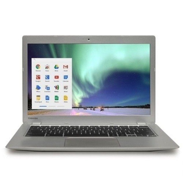 "Toshiba PLM02U-00C008 13.3"" 16GB N2840 ChromeOS,Silver (Refurbished)"