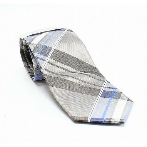 Kenneth Cole Reaction Men's Plaid Tie Blue Size Regular