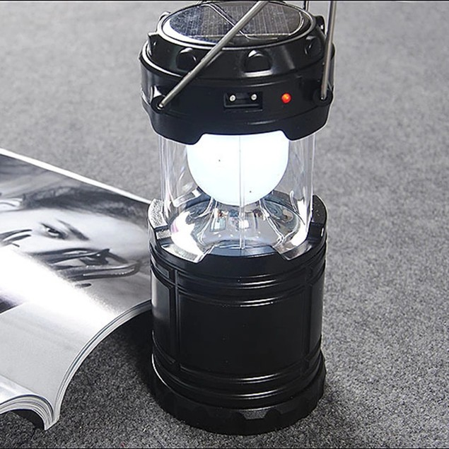 Horse Lantern Stretching LED Solar Rechargeable Camping Tent Light Dry Battery Portable Camping Light