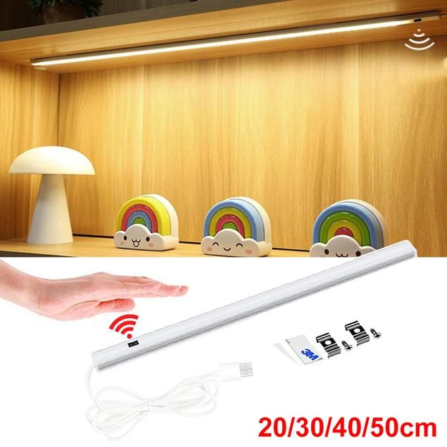 USB LED Hand Sensor LED Light Bar For Bedroom Kitchen Cabinet