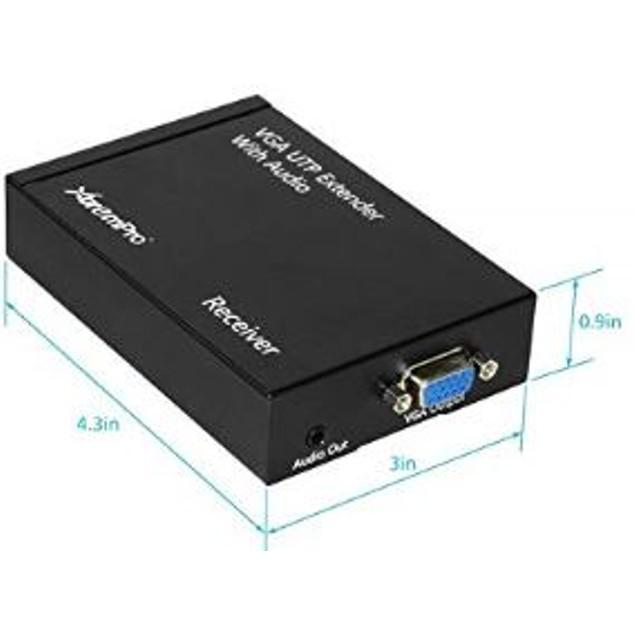 VGA UTP Extender 1 x 1 Splitter w/ Audio Cat5 for Monitors