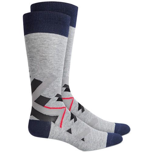 Alfani Men's Abstract Geometry Socks White Size Regular