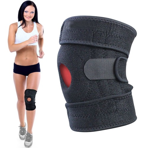 Adjustable Knee Brace Support with Dual Stabilizers