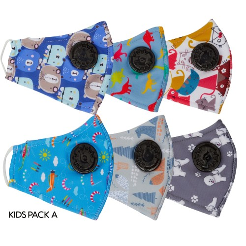 Kids Breathable & Reusable Face Mask (6 pack)
