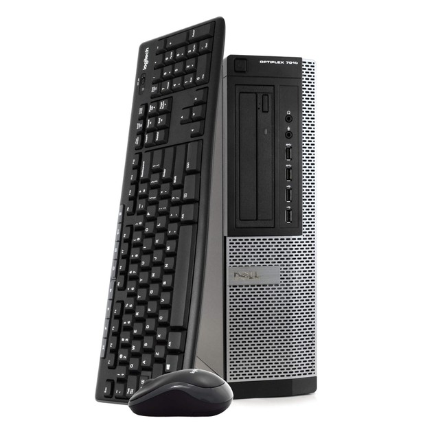 """Dell 7010 Desktop Intel i5 8GB 500GB SSD Windows 10 Professional 24"""" Monito"""