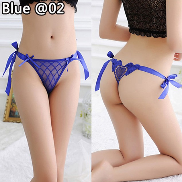Women Sexy Heart Strappy G-string Panties