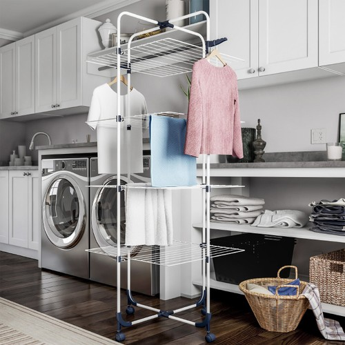 Clothes Drying Rack  4-Tiered Laundry Station