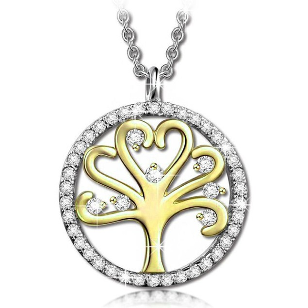 Crystal Tree Of Life Drop Necklace