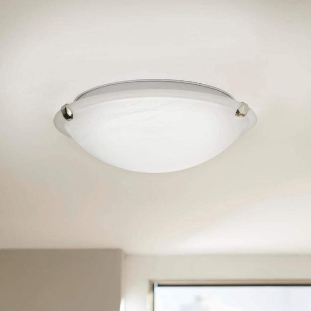 "Home Decorators Collection 12"" Pewter Finish LED Clip Flush Mount Light"