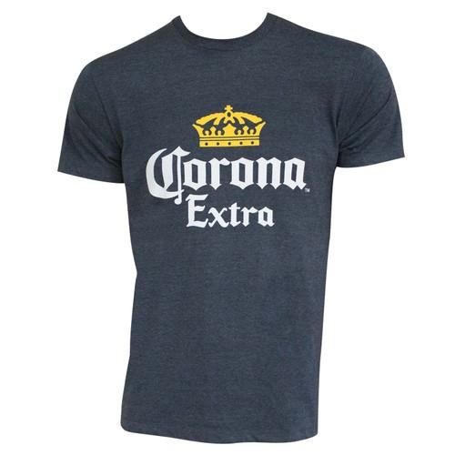 Corona Extra Basic Heather Blue Tee Shirt