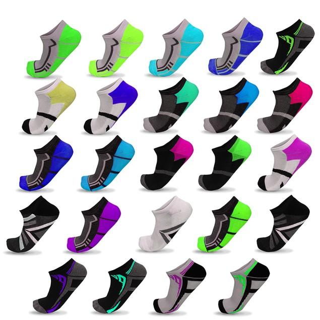 15-Pair Mystery Deal: Women's Performance Moisture-Wicking Low-Cut Socks