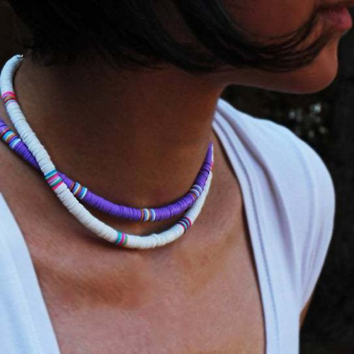 Bohemian Short Necklace Handmade Round Clavicle Chain