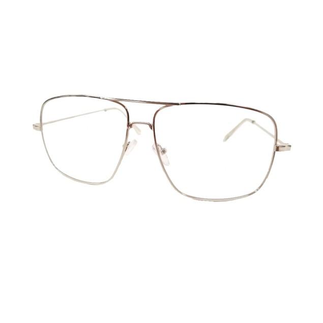 Square Silver Glasses