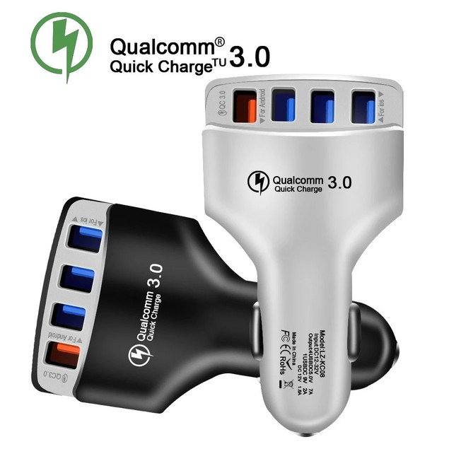 4-Port USB Universal Rapid Car Charger