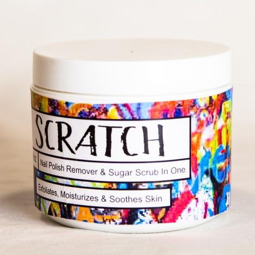 Scratch, Sugar Scrub + Nail Polish Remover, jasmine scented