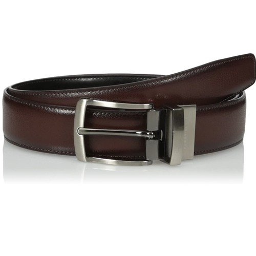 Perry Ellis Men's Burnished Edge Belt Brown Size 38