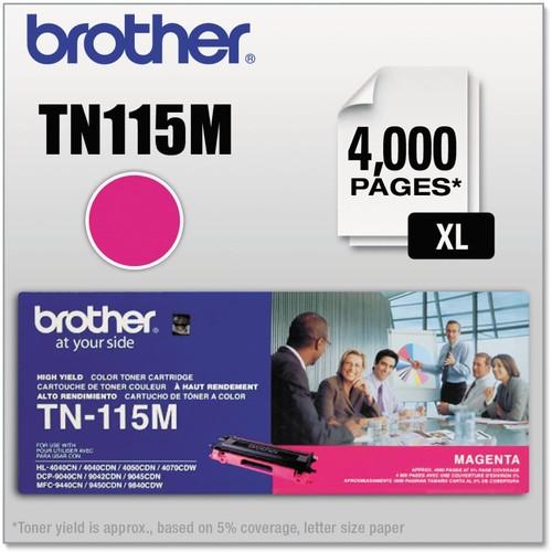 Brothers Brother BRTTN115M High Yield Toner Cartridge, Magenta