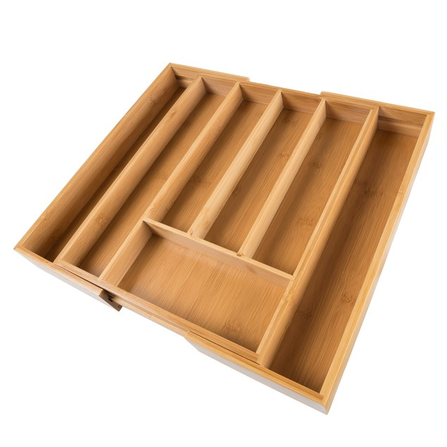 Bamboo Expandable Utensil Drawer Organizer