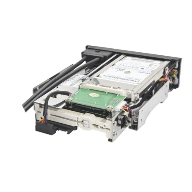 """5.25"""" Bay Drive Tray Less Mobile Rack 3.5"""" And 2.5"""" SATA III HDD"""
