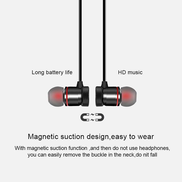 Sports Bluetooth Headset Binaural Line Bluetooth Headset Earplugs