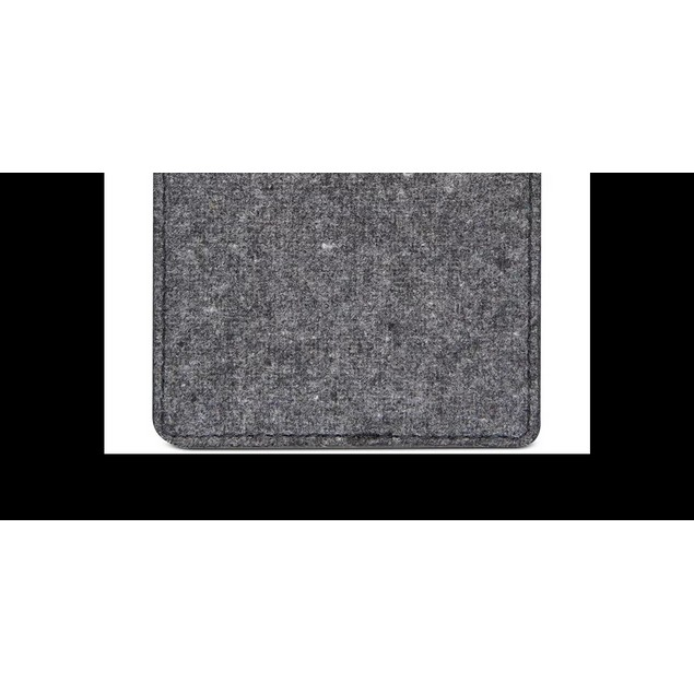 Bespoke Men's Felt Adhesive Card Case Gray Size Regular