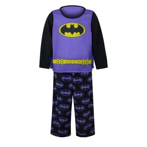 Batgirl Caped Purple Girls Pajama Set