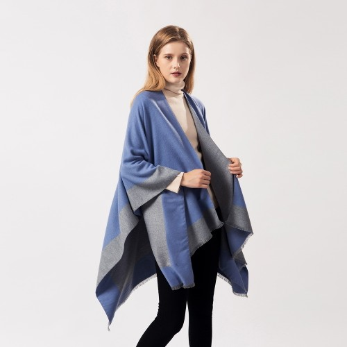 Lady's Versatile Warmth Dual-Use Tassel Shawl Cloak