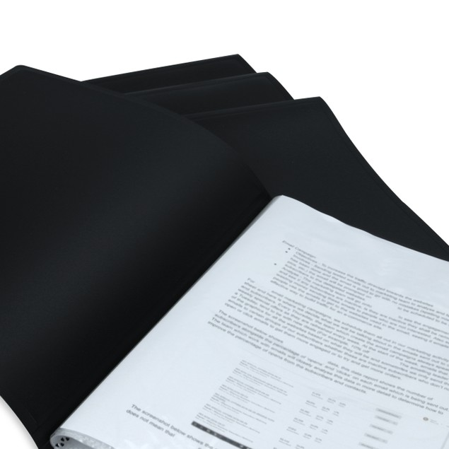 Set of 6 A4 Display Folder | Pukkr Black