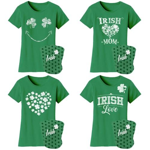 Women's Luck of the Irish Mom St. Patrick's Day T-Shirts with Gaiter