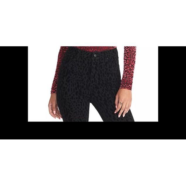 Rachel Rachel RoyWomen's Val Flocked Turtleneck Top Dark Pink Size XX-Large