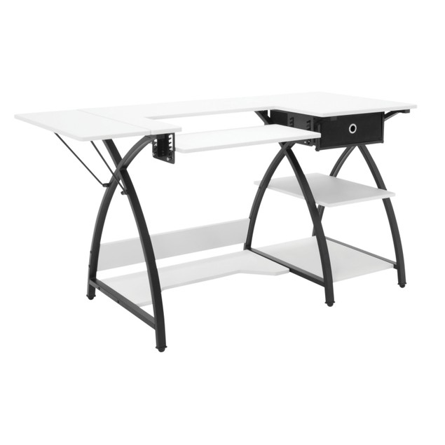 Studio Designs Comet Hobby and Sewing Desk Black/White