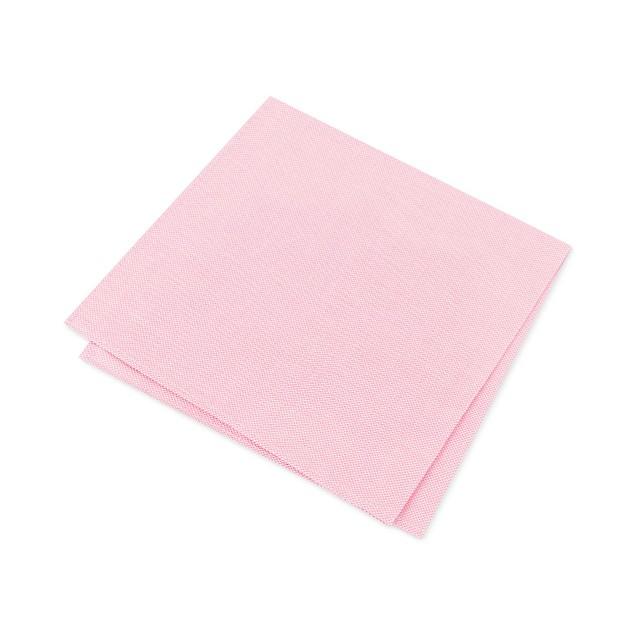 Alfani Men's Solid Twill Silk Pocket Square Pink Size Regular