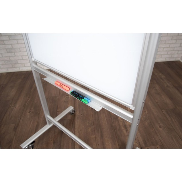 626-MMGB Luxor Double-Sided Mobile Magnetic Glass Marker Board