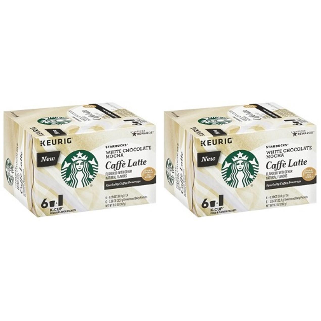 Starbucks White Chocolate Mocha Caffe Latte Keurig K Cups 2