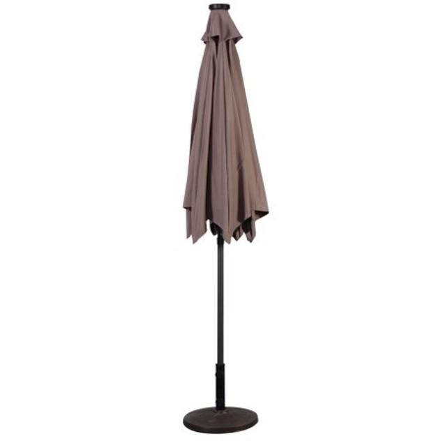 Costway 9ft Patio Solar LED Umbrella Patio Umbrella
